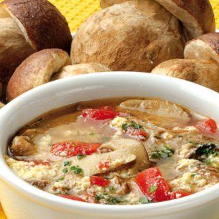 zuppa di funghi acquacotta