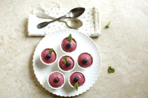 Mousse di mirtilli